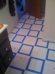 Vinyl Flooring Bathroom Diy Painting Old Vinyl Floor Tiles Mary Wiseman Designs