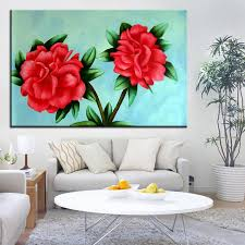 best dpartisan print no 252 flower wall painting amazing oil