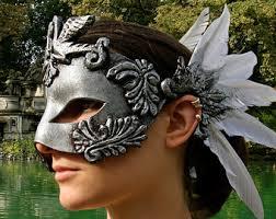 leather mardi gras masks white swan mask etsy