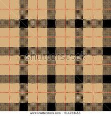 tartan wrapping paper check seamless vanilla color pattern background stock vector