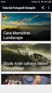 tutorial fotografi landscape tutorial teknik fotografi android apps on google play