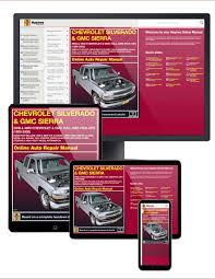 chevy u0026 gmc full size pick ups 99 06 haynes online manual