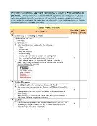 e portfolio checklist spring 2013