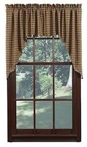 Primitive Swag Curtains Barrington Scalloped Lined Swag Curtains Primitive Quilt Shop