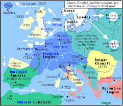 map of the differen kingdoms during the time of charlemagne and