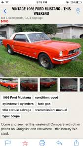 Sac Craigslists by Mustang Vintage Ride Pinterest