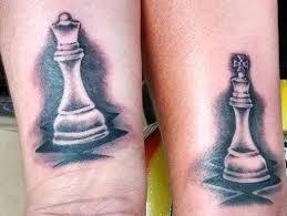 king and queen chess piece tattoos imgur