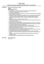 Qa Sample Resumes by Quality Assurance Manager Resume Sample Velvet Jobs
