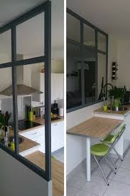 verriere pour cuisine une fausse verrière pour un look industriel urbain dans la cuisine