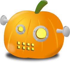 pumpkin cartoon pic clipart robot pumpkin