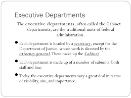 Define Cabinet Departments Unit I The Executive Branch Chapter 15 Government At Work The