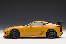 lexus whitest white amazon com autoart 1 18 lexus lfa nurburgring package orange