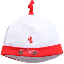 ferrari hat ferrari baby boys white vintage car print hat childrensalon