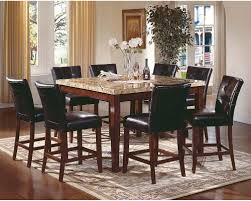 7 piece counter height dining room sets steve silver montibello 7 piece marble top counter height square