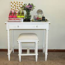 Corner Vanity Table Small White Vanity Table With Glass Top And Drawer Decofurnish