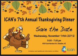 ican annual thanksgiving dinner november 14 2012