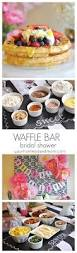 waffle bar bridal shower with chinet cut crystal a giveaway