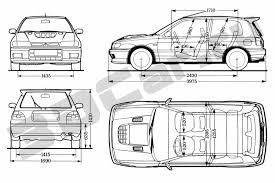 nissan sunny 1991 чертеж nissan sunny gti r 1991 3dcar ru 3d модели