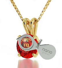 red stone gold necklace images Thoughtful gifts for her get gold scorpio jewelry now nano jewelry jpg