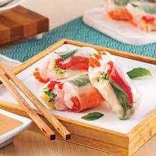 basilic cuisine rouleaux de printemps aux crevettes et basilic thaï recettes