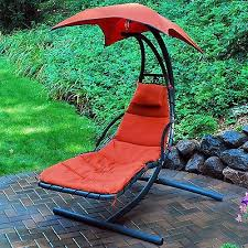 outdoor hanging lounger deck porch yard patio swing canopy hammock