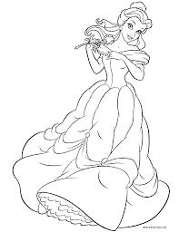 86 coloring pages princess belle disney princess belle