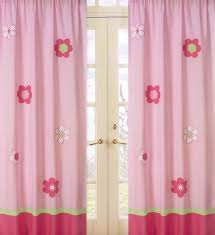 Light Pink Window Curtains Sweet Jojo Designs Flower Pink And Green Collection Window Panels