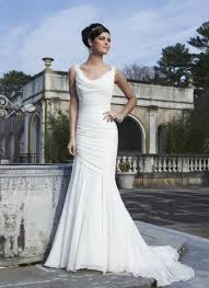 wedding dress no cowl neck wedding dress mermaid lace straps criss cross back