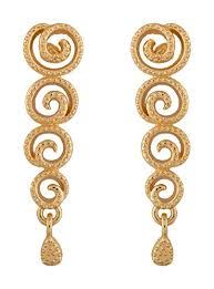 fancy earing buy estelle gold plated drop and dangle earring jewellery set