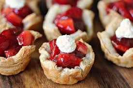 strawberry filled mini puff pastries cravings of a lunatic