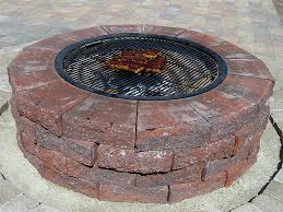 Fire Pit Ring With Grill by Incredible Fire Pit Ring And Grate Kit Garden Landscape