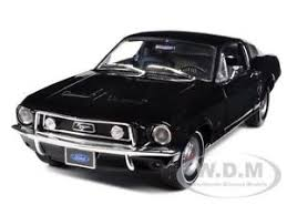 1968 ford mustang black 1968 ford mustang gt 2 2 fastback black 1 18 diecast model car