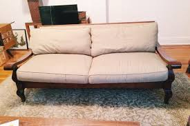 crate and barrel down filled sofa solid wood frame crate and barrel sofa in astoria queens county