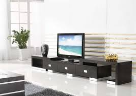 interesting black living room wall furniture with white potted