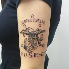 acdc tattoo 75 cool usmc tattoos meaning policy and designs 2017
