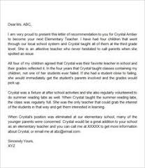 letter of recommendation for middle student addyson bday