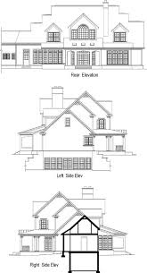 Floor Plan With Elevation by Country Style House Plans Plan 48 143