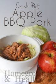 crock pot apple bbq pork tenderloin homegrown in the valley