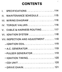 50cc 125cc chinese atv repair manual set om 110set service