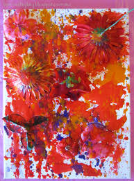 learn with play at home flower stencil spray painting