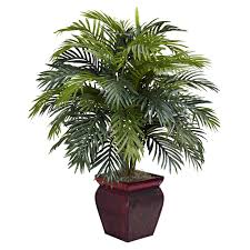 artificial plants 38 inch artificial areca plant in decorative planter 6686