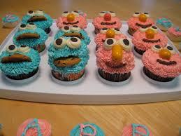 treats by christi elmo u0026 cookie monster 2nd birthday party cupcakes