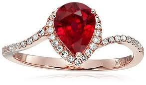engagement ring sale limited time sale 1 25 carat pear cut ruby and halo
