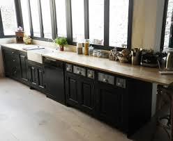 plan de travail cuisine en zinc cuisine sur mesure avec modules tranversants en pin massif avec plan