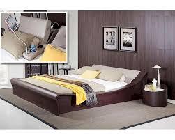 Modern Platform Bed With Lights - platform bed w lights cup holders and ipad holder 44b135bd