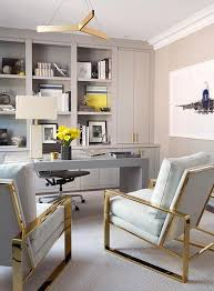work from home office gold and gray home office colors contemporary den library office
