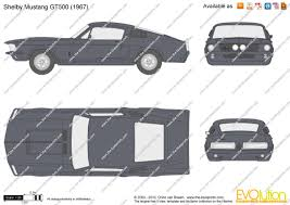 1968 mustang dimensions the blueprints com vector drawing shelby mustang gt500