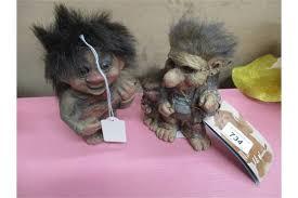 6 x homeware troll ornaments