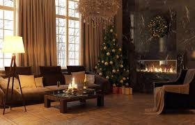 living room traditional christmas tree decoration ideas with