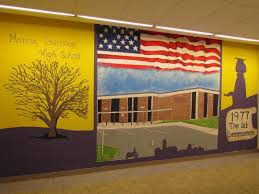 wall mural will be moved to a panel the falconer s voice art club s mural will be moved the new mural painted on the g wing